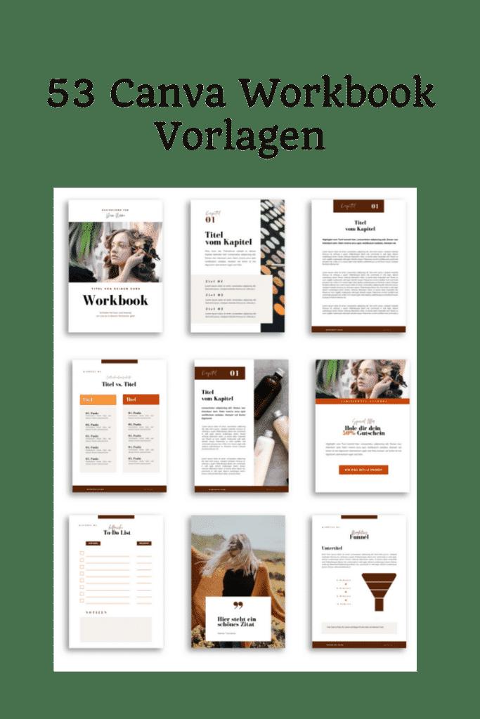 Canva workbook Vorlagen
